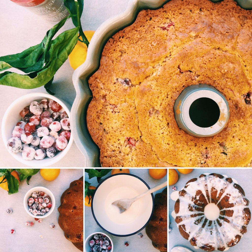 boozy sugared cranberry coffee cake | Recipe via DisplacedHousewife
