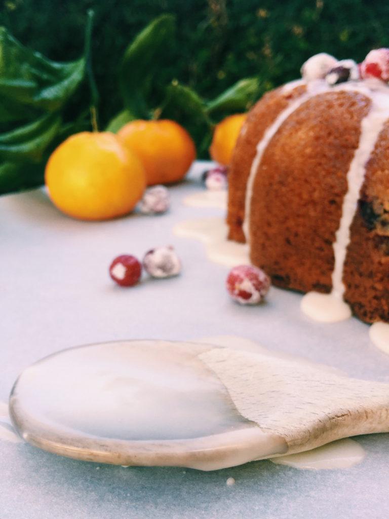 boozy sugared cranberry coffee cake | Recipe via DisplacedHousewife