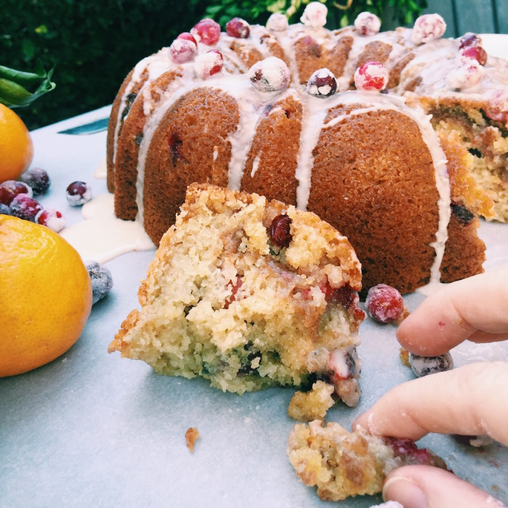 boozy cranberry coffee cake | Recipe via DisplacedHousewife
