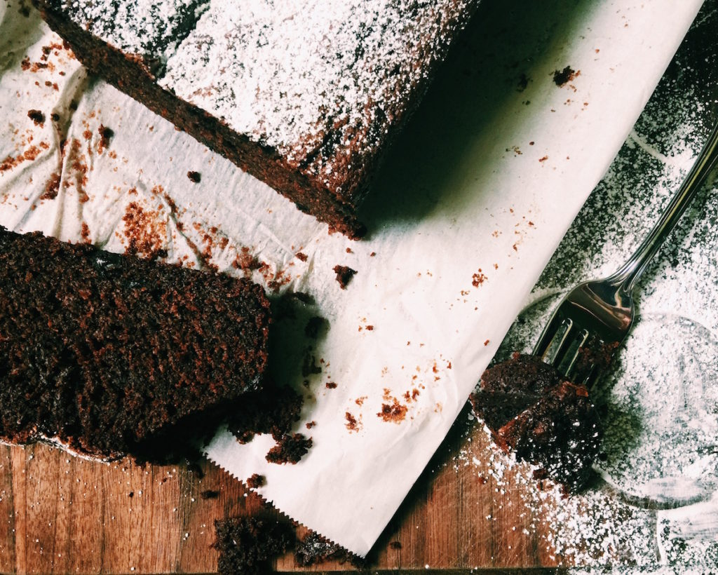triple chocolate + espresso tea cake | DisplacedHousewife