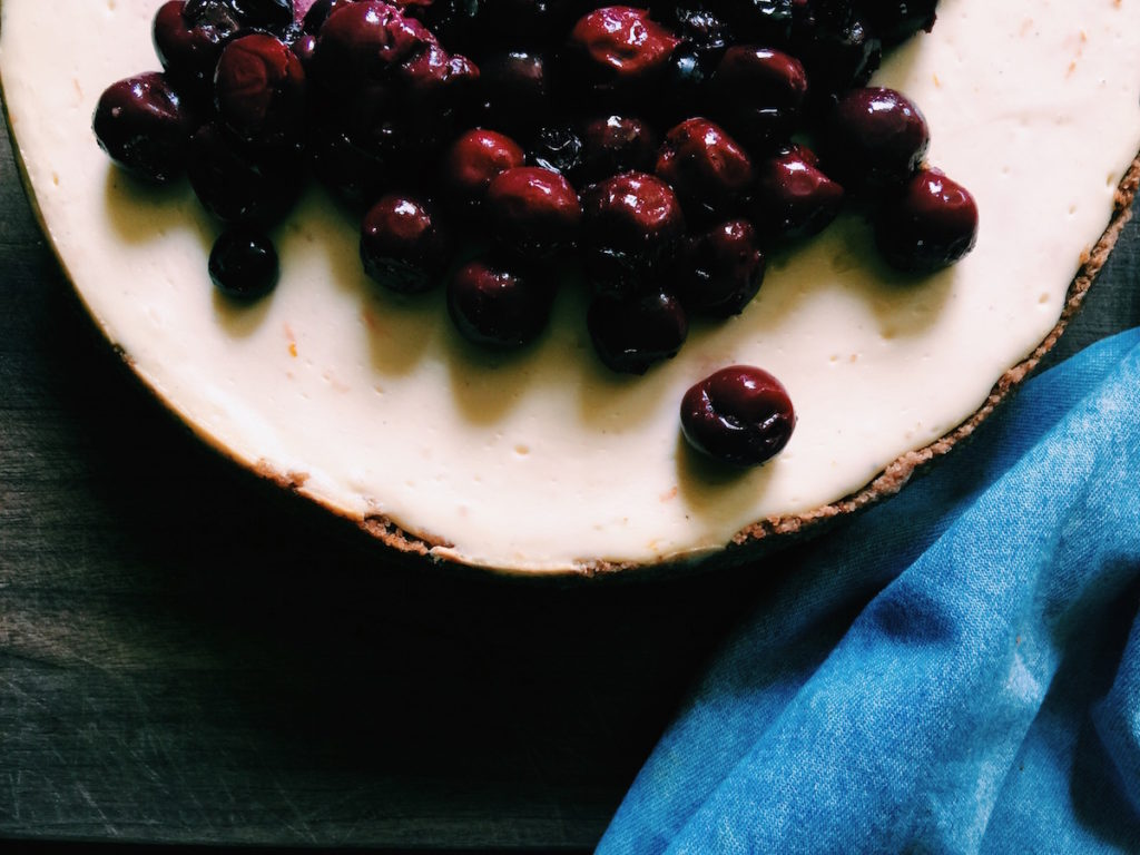 cherry + cardamom + rye-crust cheesecake | displacedhousewife.