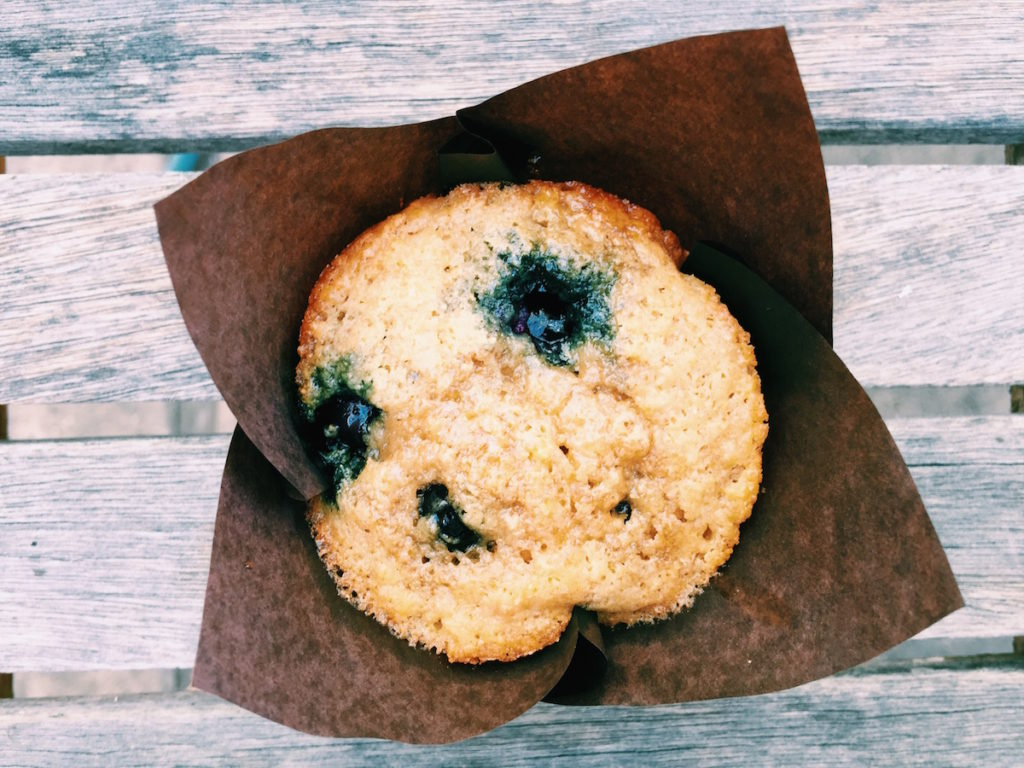 blueberry + maple pancake muffins