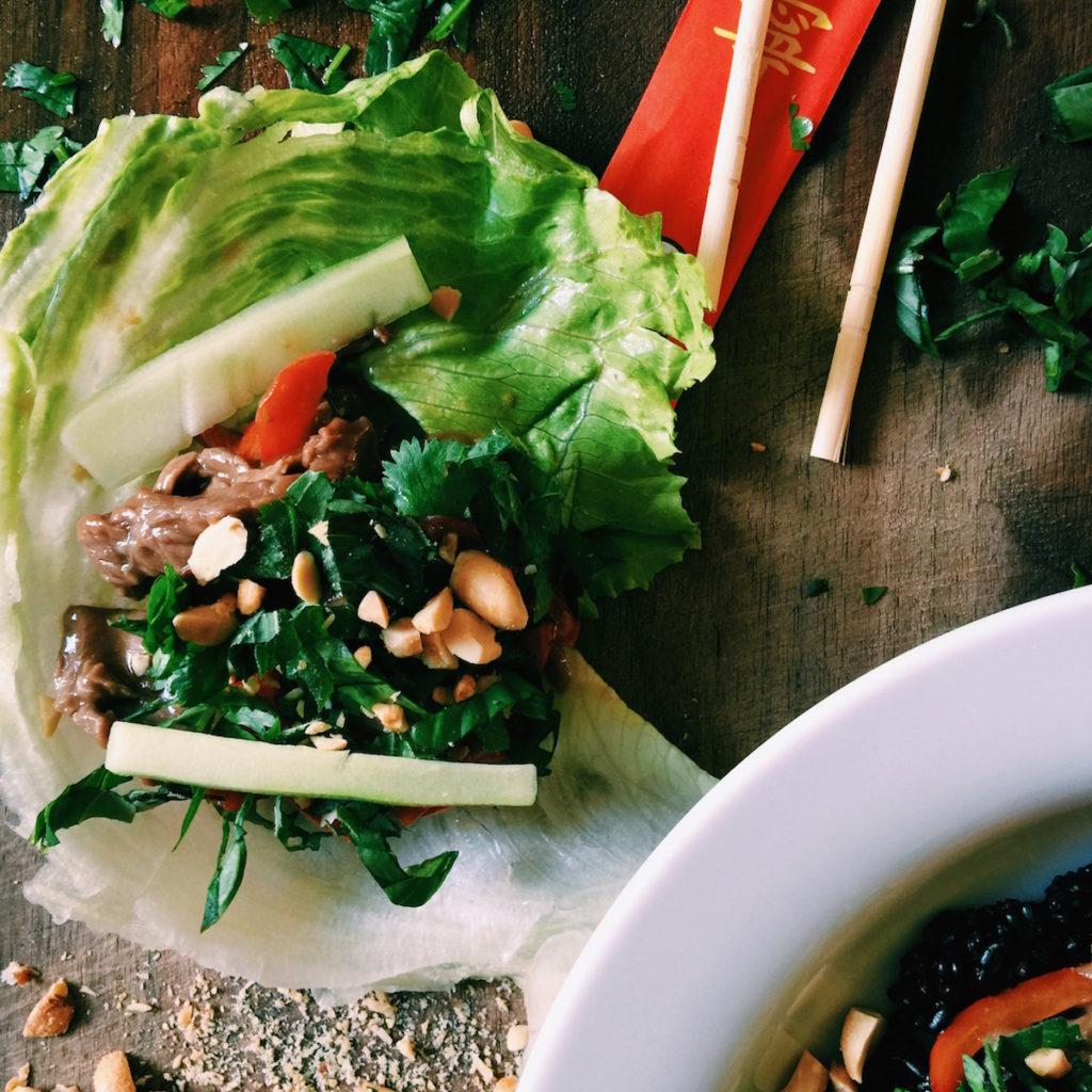 thai beef wraps | DisplacedHousewife