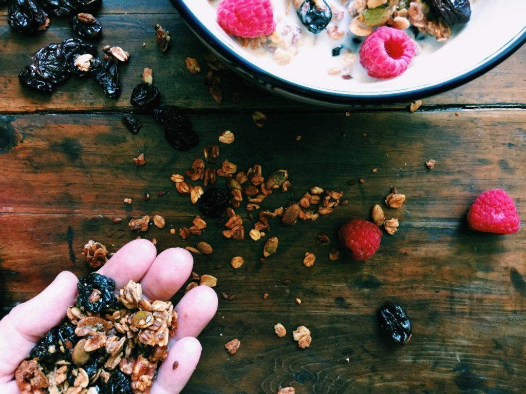 cherry + pecan autumn granola | DisplacedHousewife