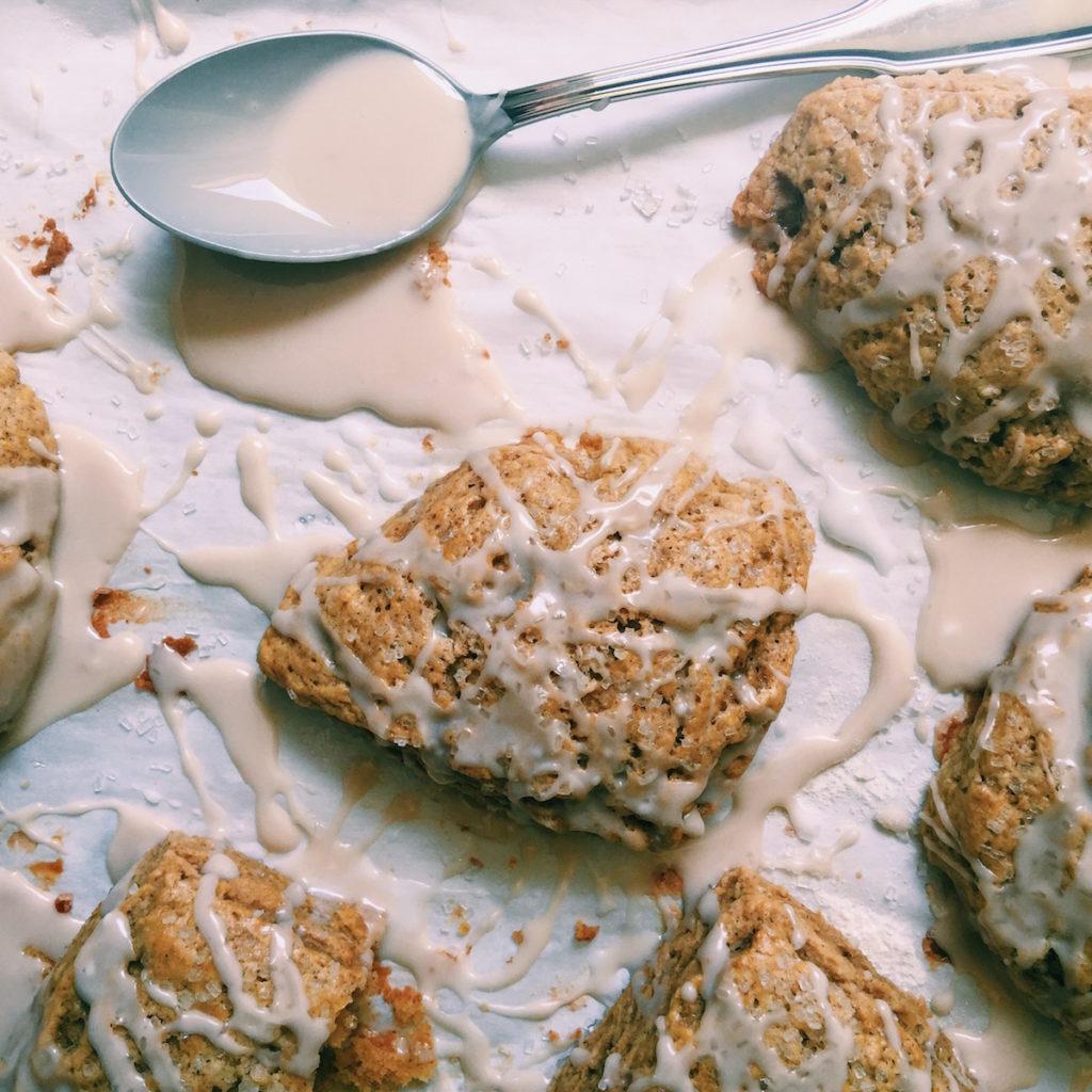 petite spiced pumpkin scones + anise schmooey | DisplacedHousewife