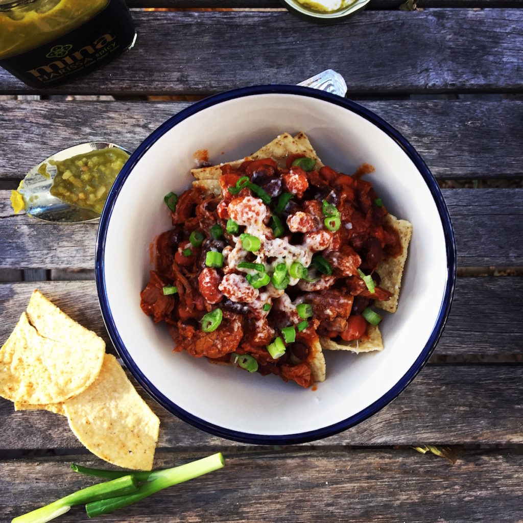 harissa steak chili | Recipe via DisplacedHousewife