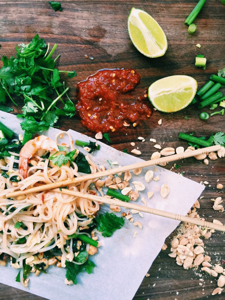 easy weeknight pad thai | Recipe via DisplacedHousewife