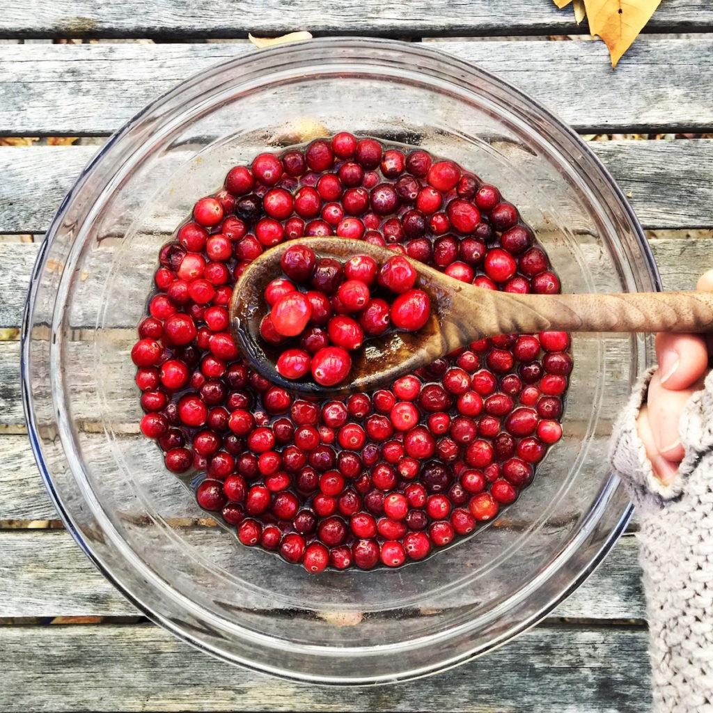 boozy sugared cranberries | Recipe via DisplacedHousewife