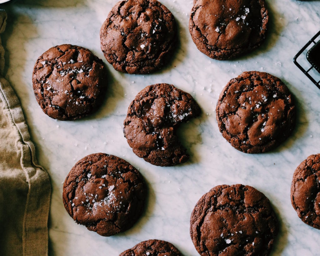 Smoked Salt Chocolate Rye Cookies | recipe via DisplacedHousewife