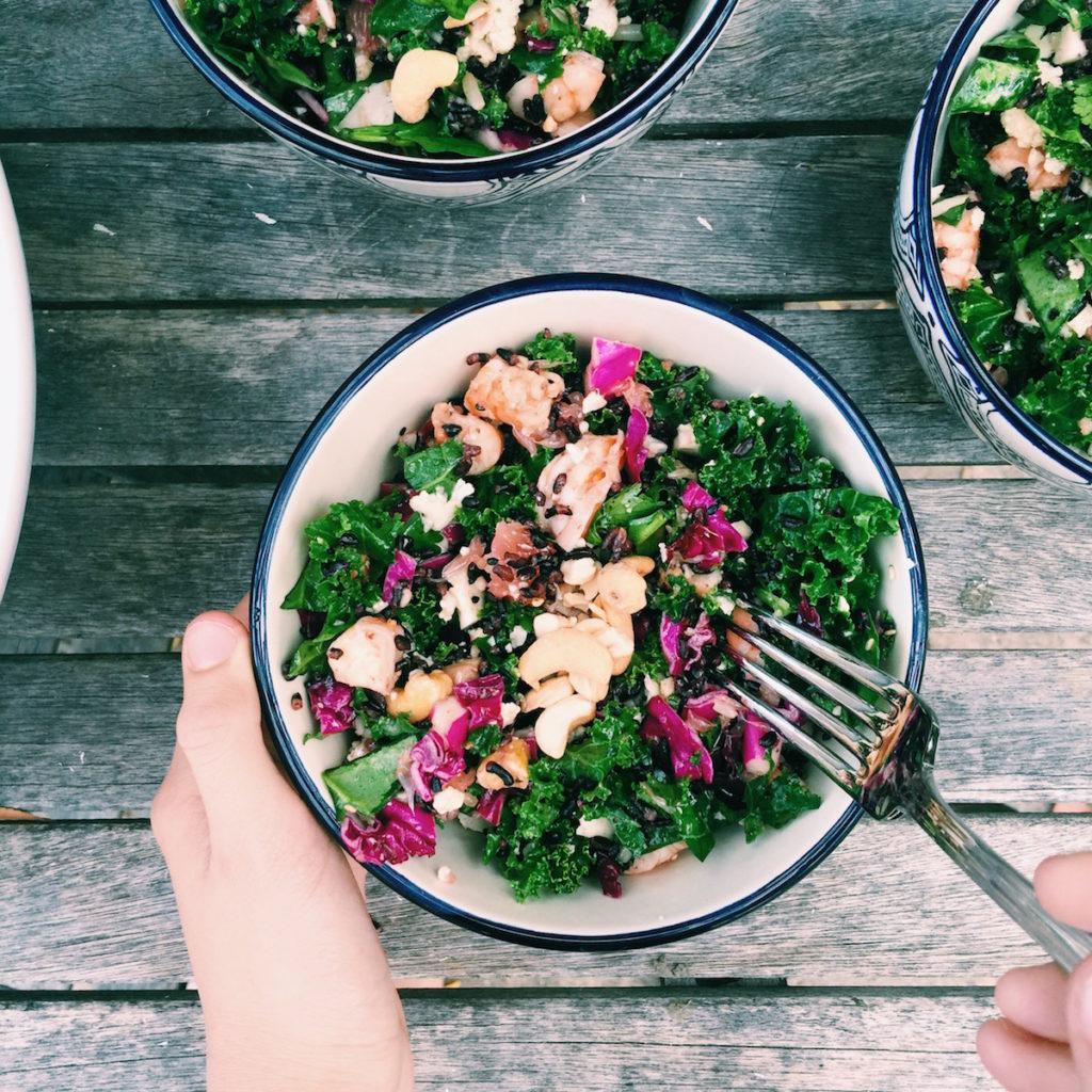 Black Rice Sesame Detox Chopped Salad   displacedhousewife