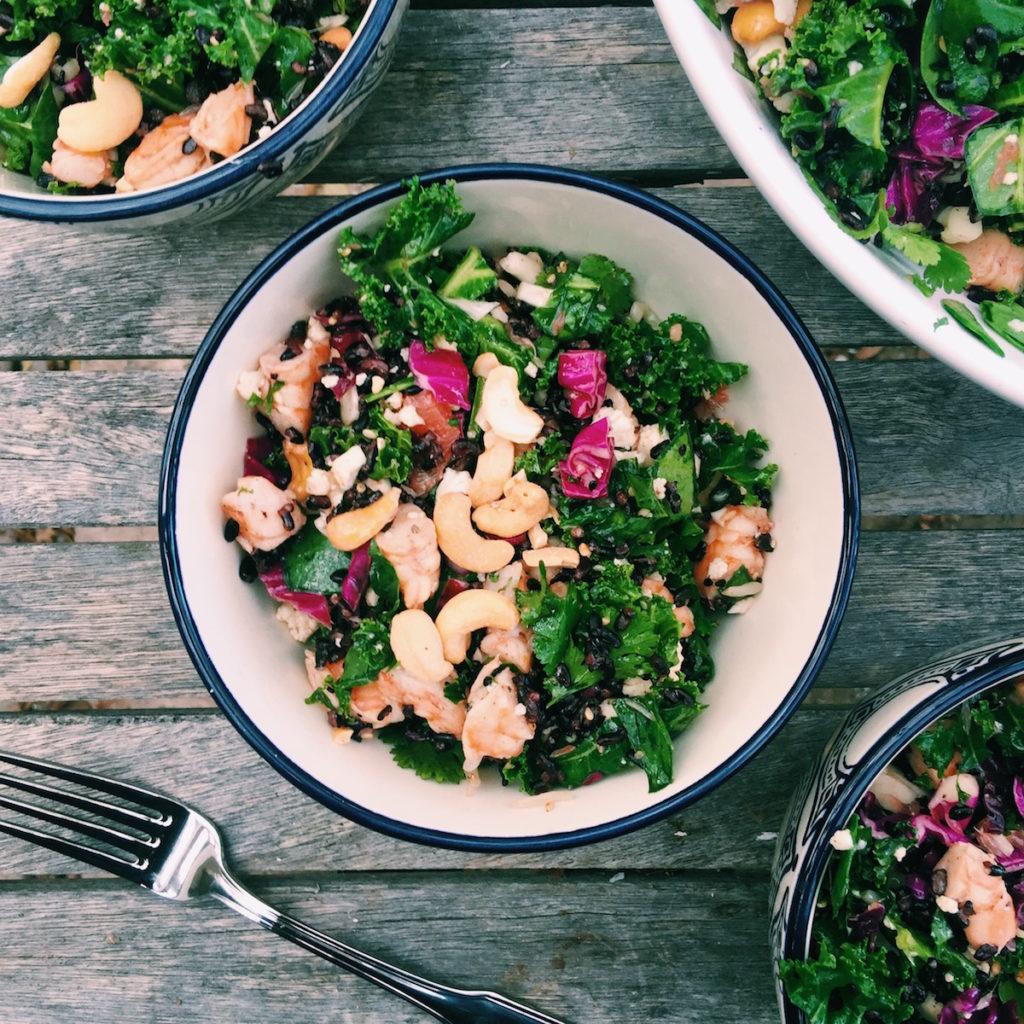 honey sriracha shrimp detox chopped salad   DisplacedHousewife