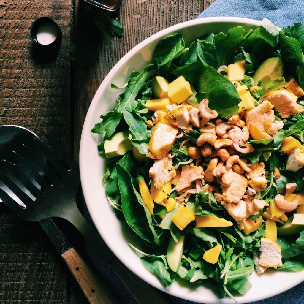 thai noodle salad | Recipe via DisplacedHousewife | a quick + delicious + healthy dinner