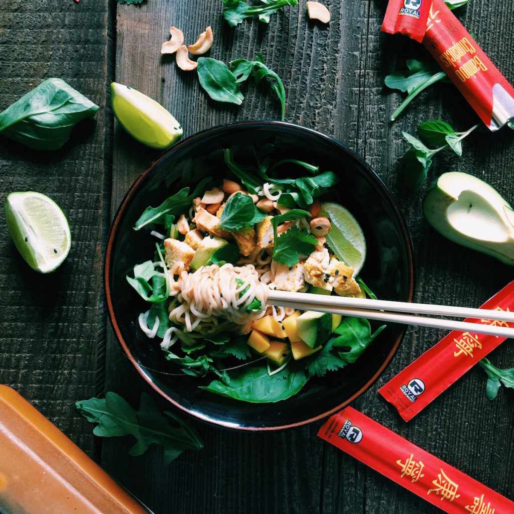 thai noodle salad | Recipe via DisplacedHousewife | a quick + delicious + healthy dinner