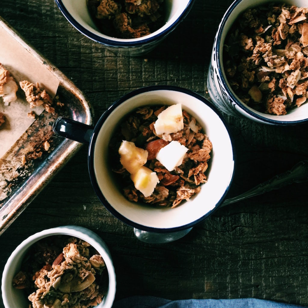 chai spiced granola   Recipe via DisplacedHousewife   nice spice, loaded with goodness + lots of granola-making tips