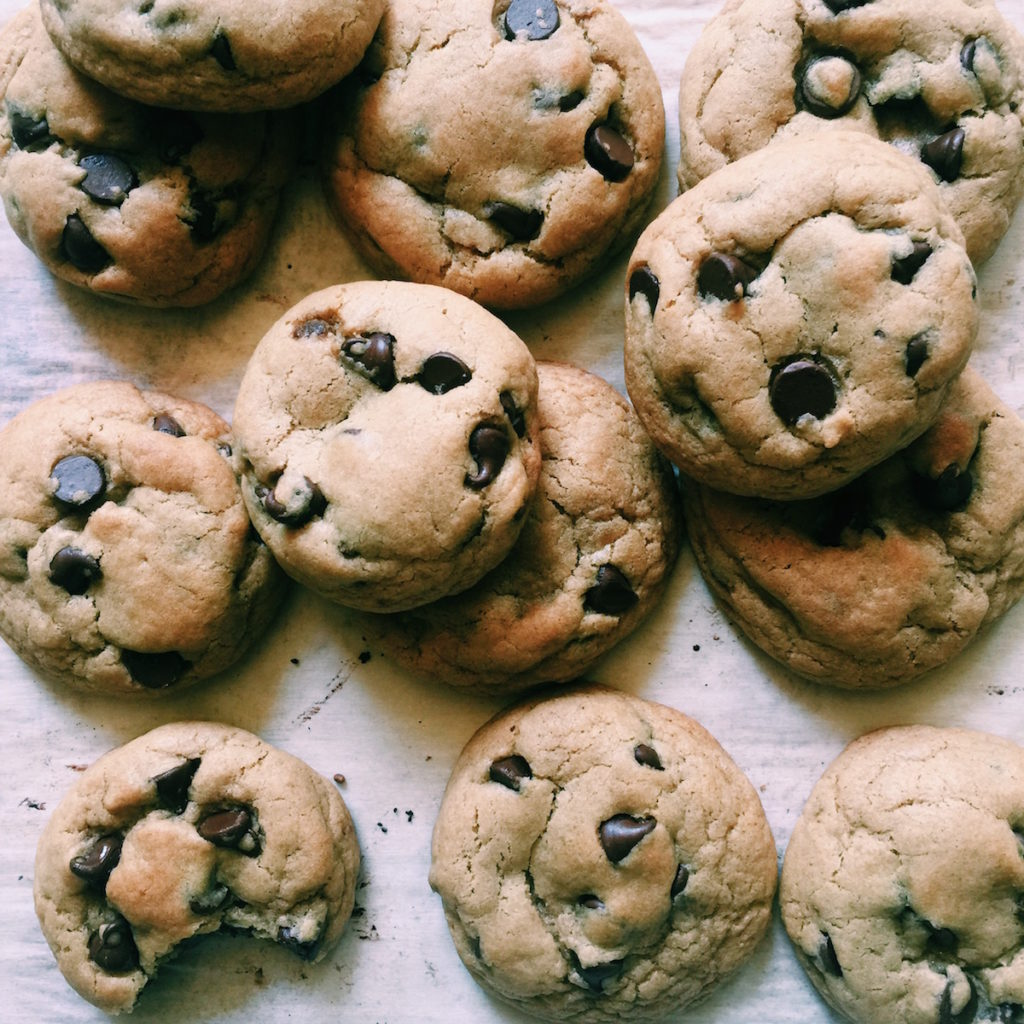 Brown Butter Chocolate Chip Cookies | Recipe via DisplacedHousewife | *This version is made with dark brown sugar.