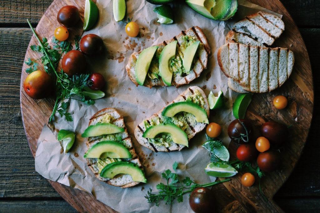 spanish-fried egg, smashed avocado + heirloom tomato toast | Recipe via DisplacedHousewife