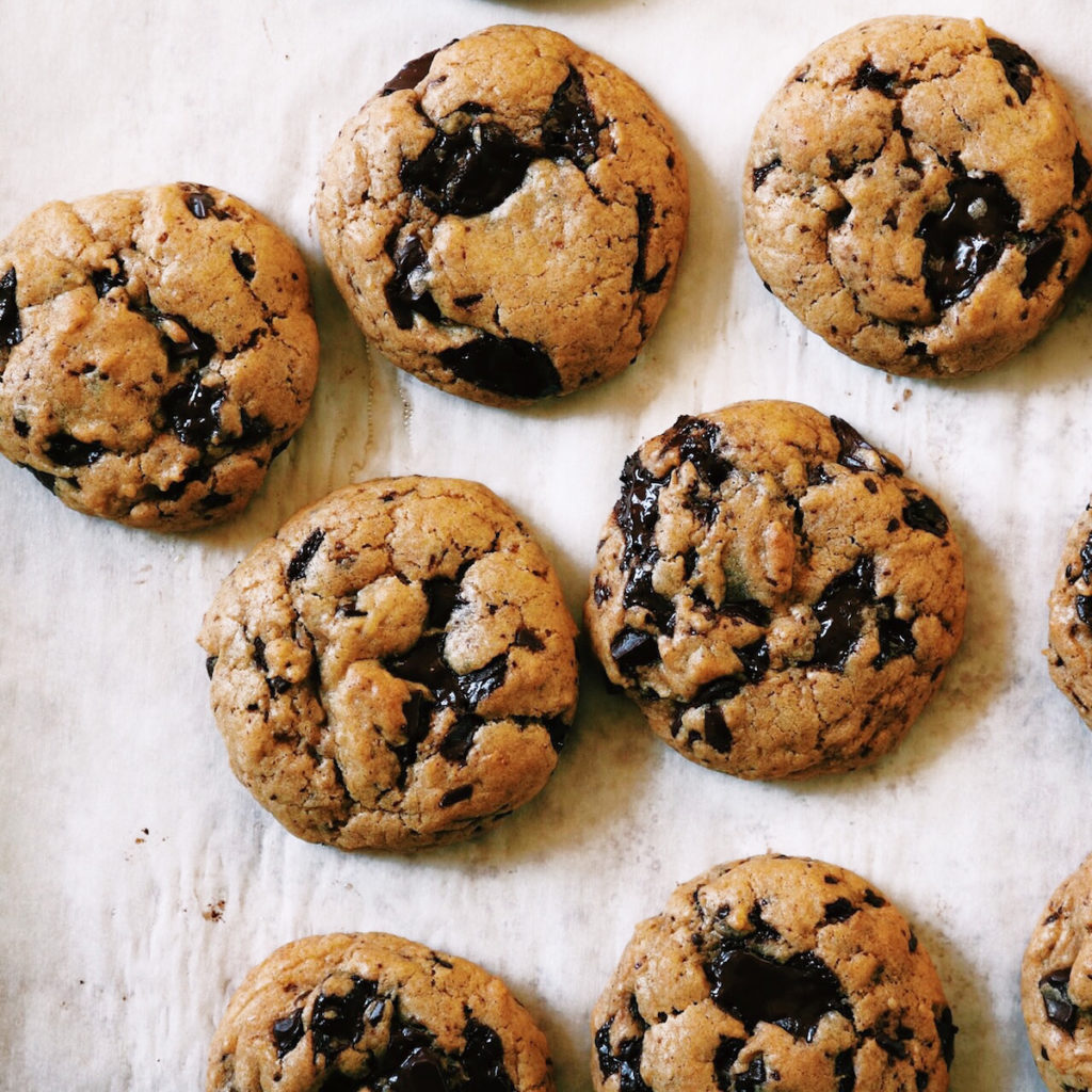 Spiced Pumpkin Chocolate Chunk Cookies | recipe via DisplacedHousewife | Soft + chewy with lots of warm and fuzzy spices. And brown butter...always. xo