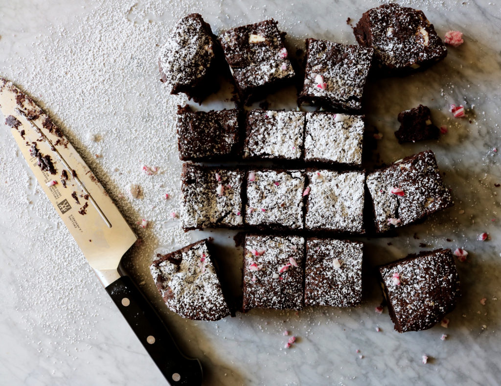 Triple Peppermint Brownies | recipe via DisplacedHousewife | quick, easy, festive...what more do we need? xo