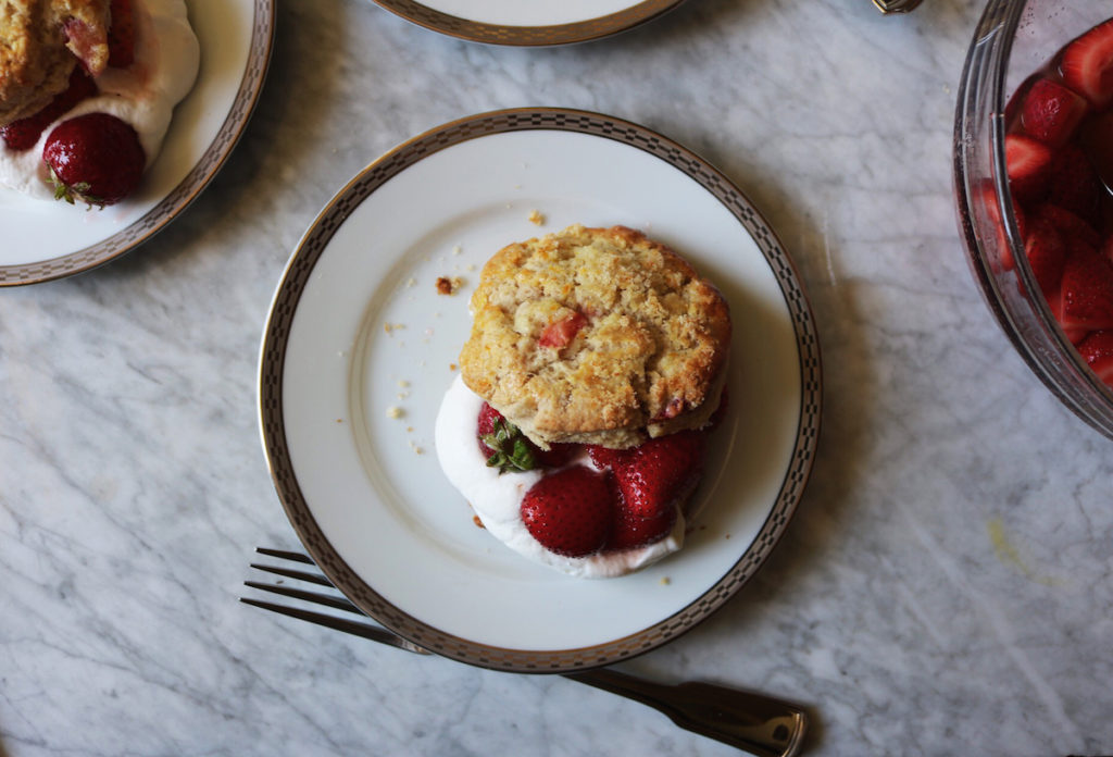 Strawberry Scones Shortcakes With Fresh Whipped Orange Blossom Cream Recipe   DisplacedHousewife