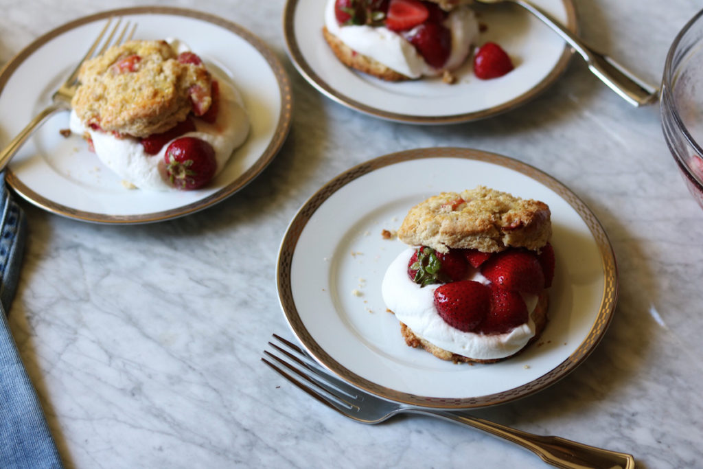 Strawberry Scones Shortcakes With Fresh Whipped Orange Blossom Cream Recipe | DisplacedHousewife