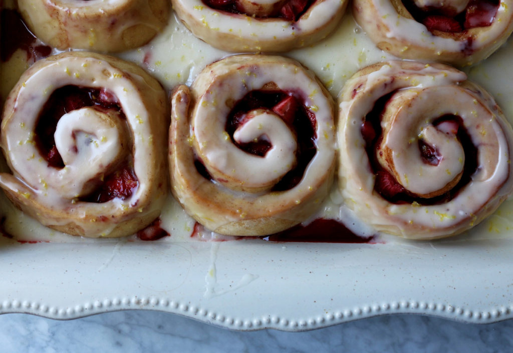 Overnight Strawberry Jam Buns With Lemon Crème Frâiche Recipe   Displaced Housewife
