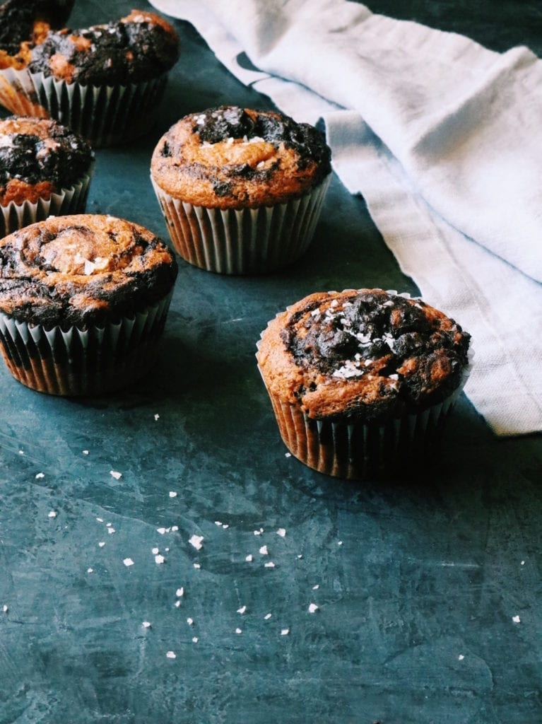 Double Chocolate Pumpkin Swirl Muffins | Displaced Housewife