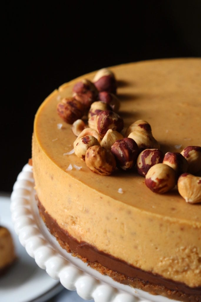 Pumpkin Hazelnut Cheesecake Recipe | Displaced Housewife