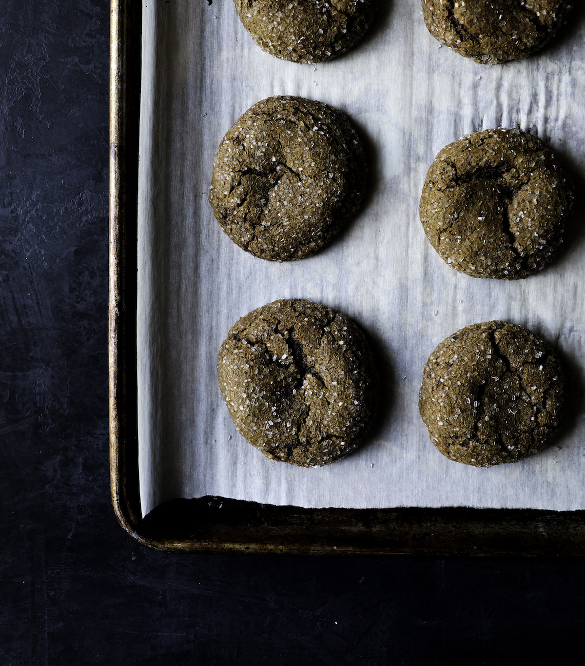 Molasses Ginger Crinkles Recipe from The Cookie Book by Rebecca Firth | DisplacedHousewife