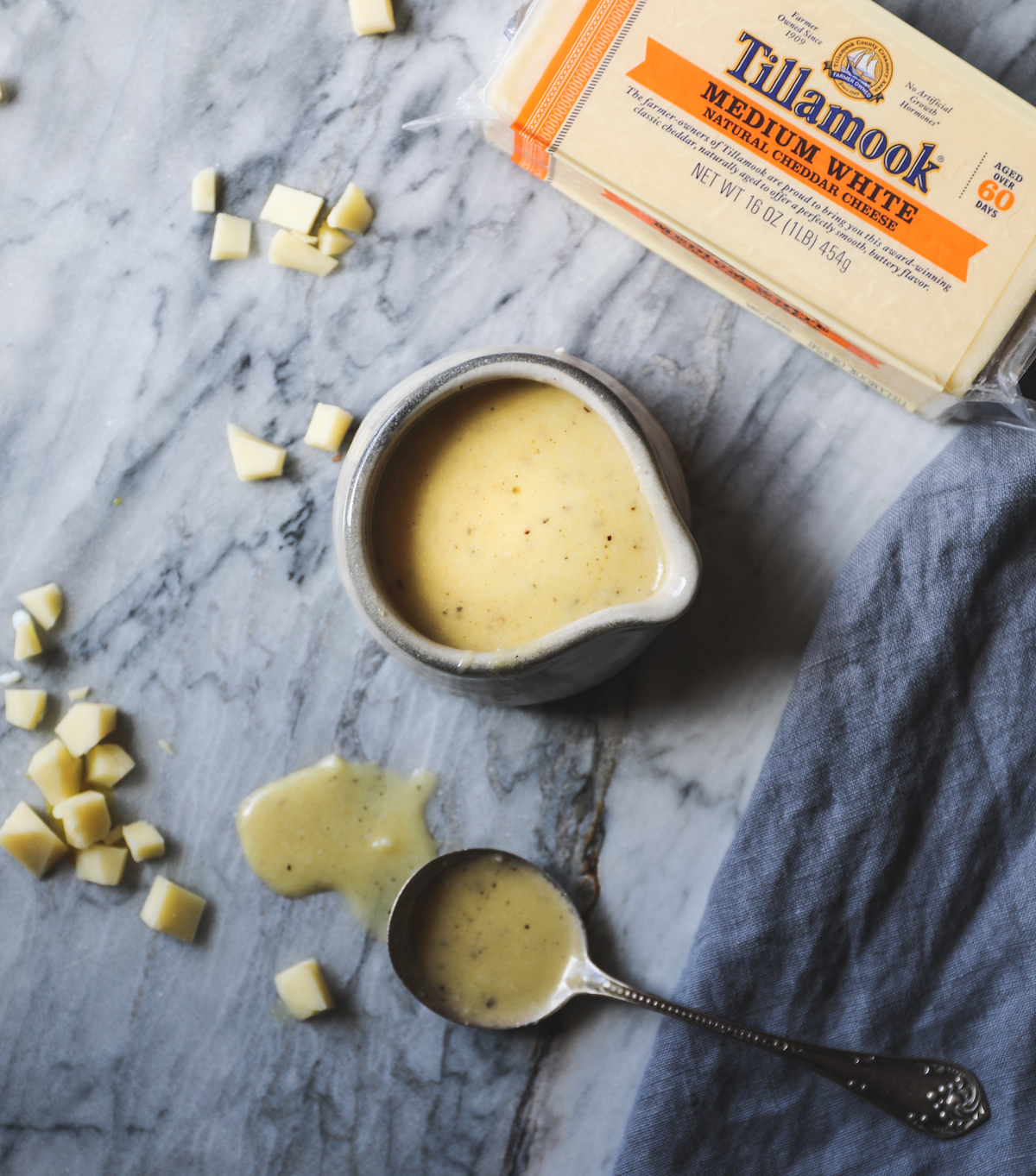 A Block of Tillamook White Cheddar and Honey Mustard Dressing | DisplacedHousewife