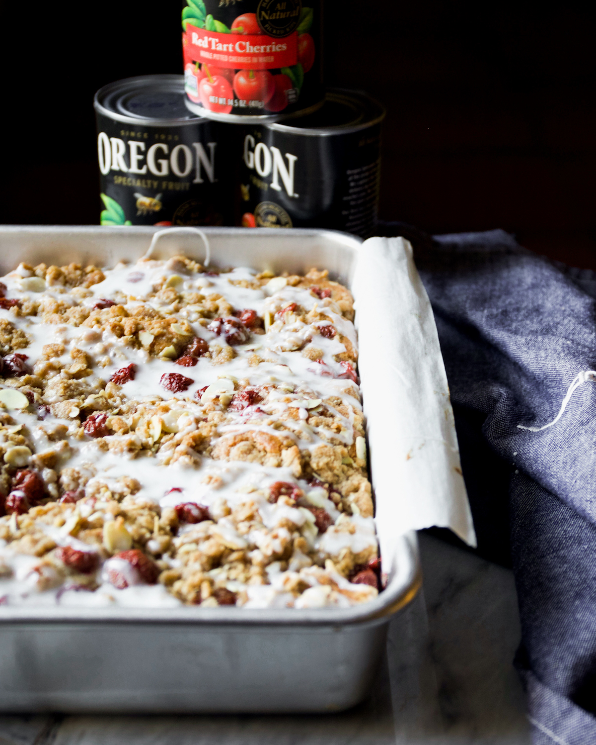 Cherry Streusel Coffee Cake Recipe | DisplacedHousewife