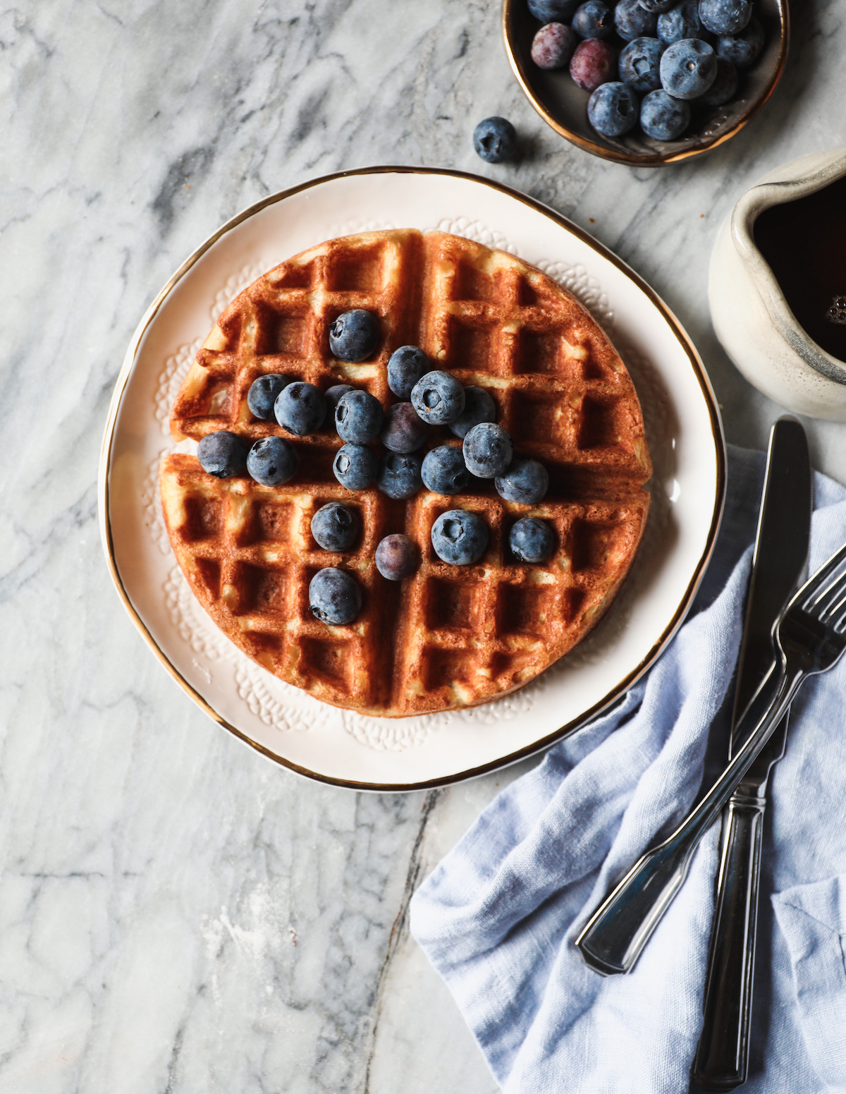 Yeasted Overnight Waffles Recipe | DisplacedHousewife