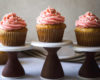 Lime Agave Cupcakes With Fresh Strawberry Basil Buttercream
