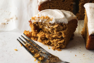 Pumpkin Bourbon Cake With Brown Butter Bourbon Buttercream | recipe via DisplacedHousewife Rebecca Firth