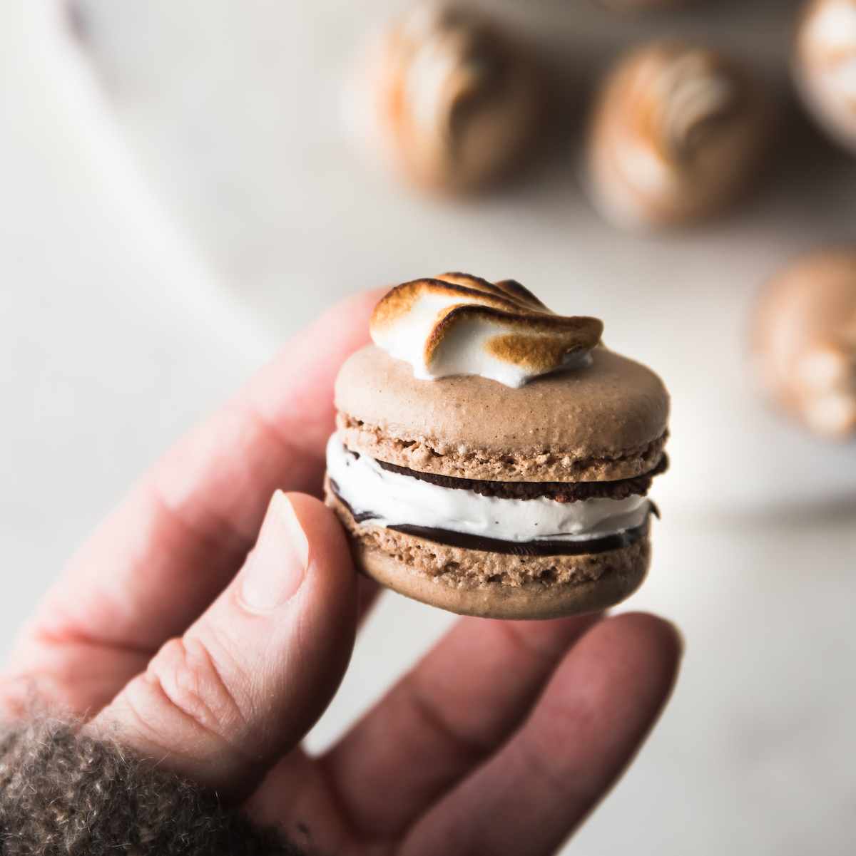 Mexican Hot Chocolate Macarons   recipe via DisplacedHousewife Rebecca Firth   heaps of tips + details