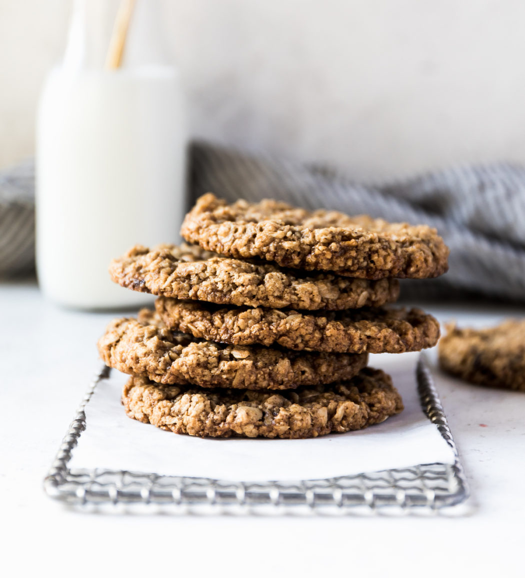 Vegan GF Chocolate Chip Oatmeal Cookies