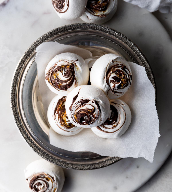 Chocolate Orange Meringues | Recipe via DisplacedHousewife Rebecca Firth
