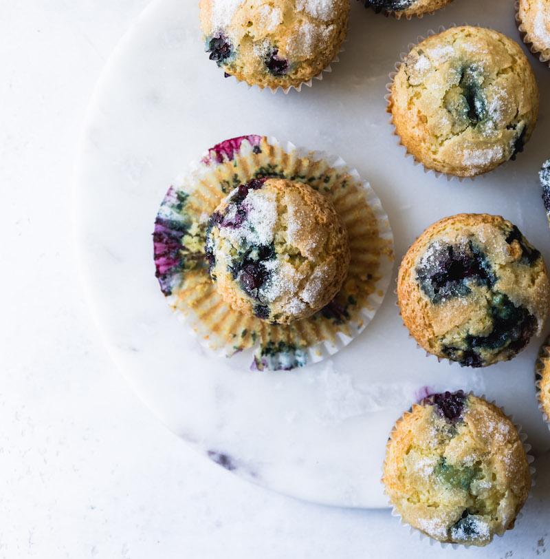 Favorite Blueberry Muffins | Recipe via DisplacedHousewife Rebecca Firth