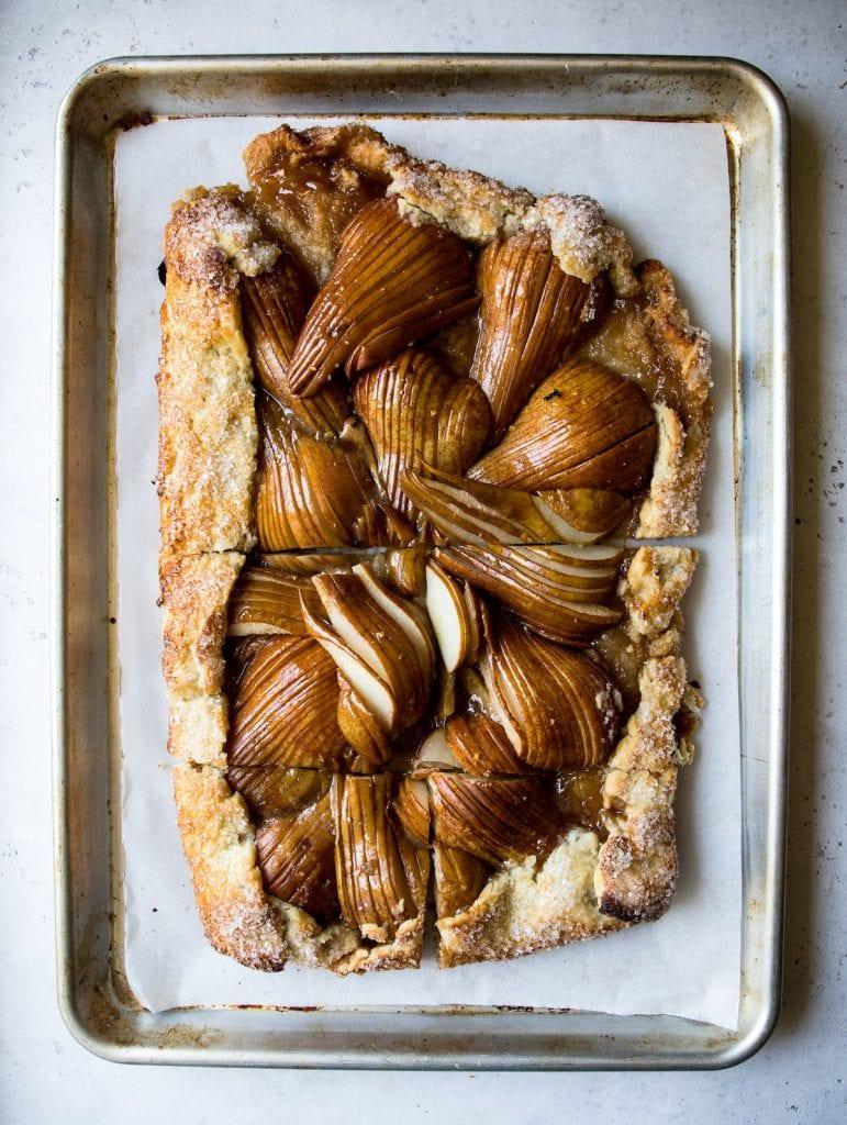 Salted Honey Pear Crostata | recipe via DisplacedHousewife Rebecca Firth