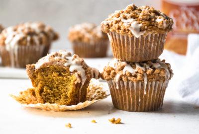 Pumpkin Streusel Muffins   Recipe via DisplacedHousewife Rebecca Firth